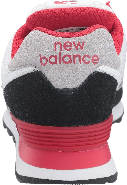 New Balance Men's 574v2 Sneaker, BlackTeam Red, 4.5 2E US