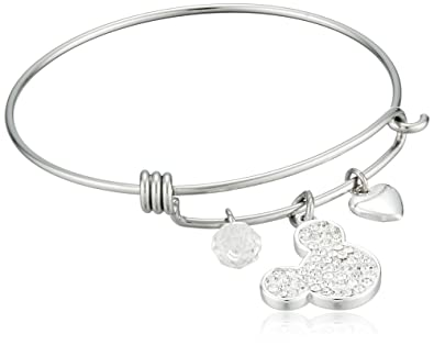 1e752202b3afe Amazon.com: Disney Stainless Steel Catch Bangle with Silver Plated ...