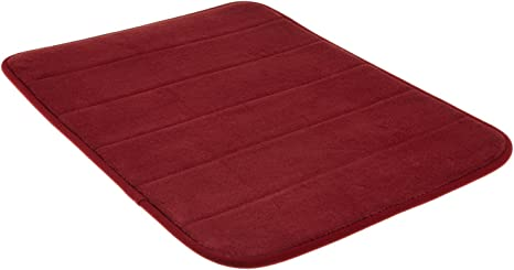 Memory Foam Bath Mat Incredibly Soft And Absorbent Rug Cozy Velvet Non Slip Mats Use For Kitchen Or Bathroom 17 Inch X 24 Inch Burgundy Kitchen Dining