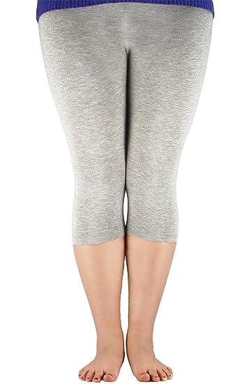 0d8d8497129ea Zando Women s 3 4 Length Lightweight Plus Size Yoga Pants Soft Stretchy Crop  Leggings Basic