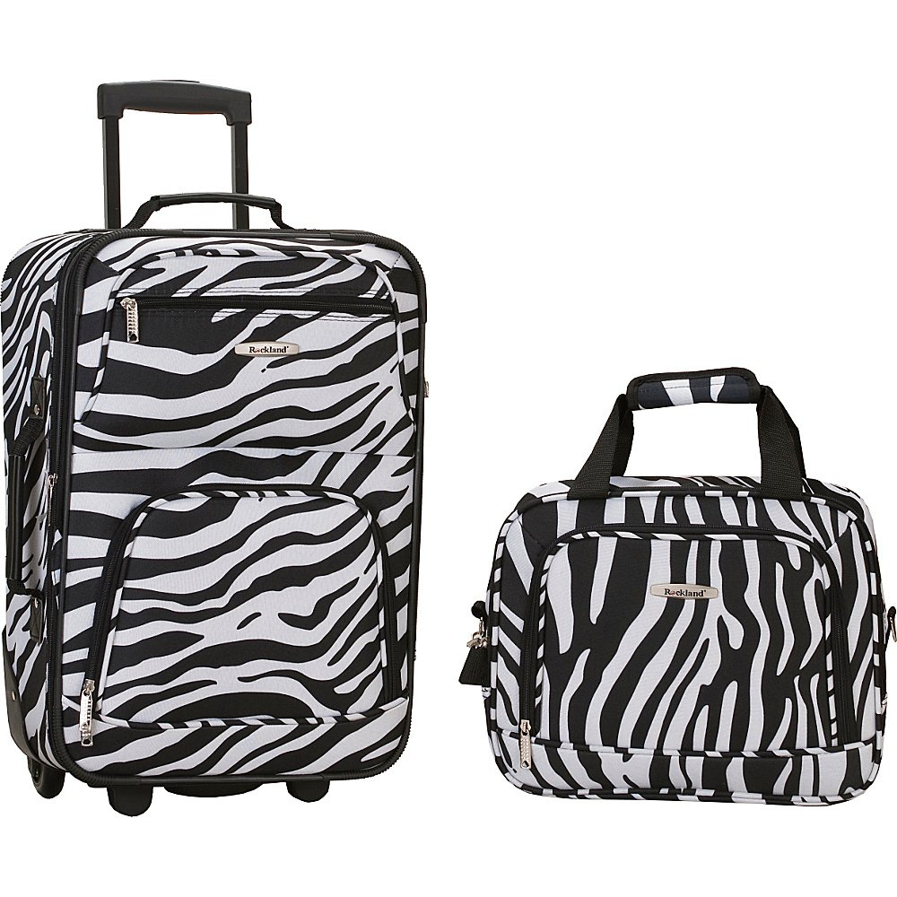 9fc19661876d Rockland Printed 2 PC ZEBRA LUGGAGE SET