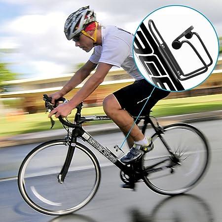 MisFox Portabid/ón Universal Botellero Bicicleta de Ligera Aluminio Porta Bidones Bici con Tornillos y Llave Hexagonal Port/átil para Bicicleta de Monta/ña Bicicleta de Carretera Bicicleta