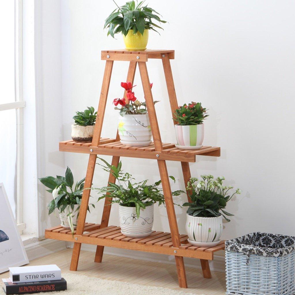 Estantería para Plantas / Soporte de flores Balcón de madera ...