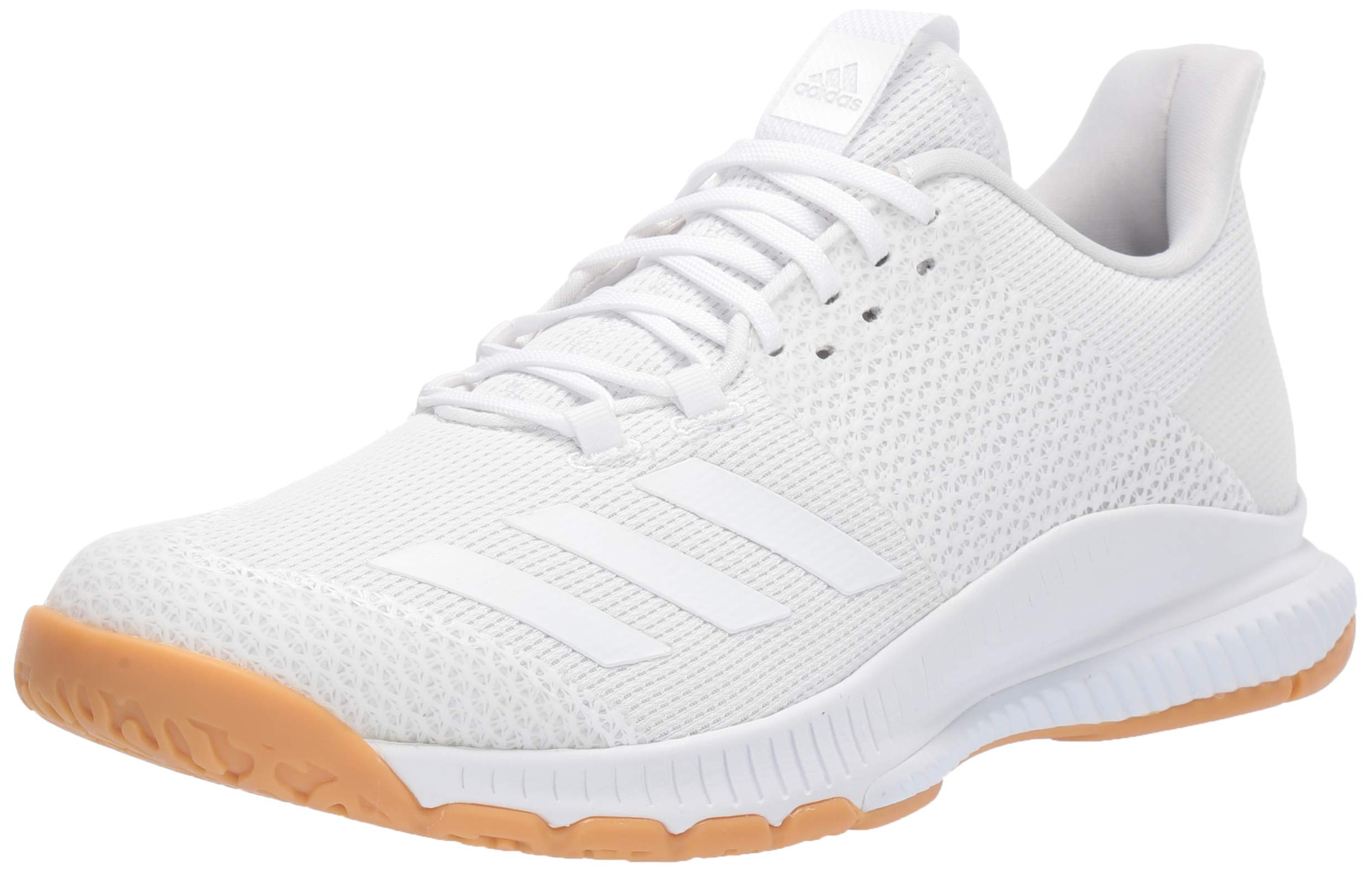 adidas Women's Crazyflight Bounce 3 Volleyball Shoe, White/Gum, 5 M US
