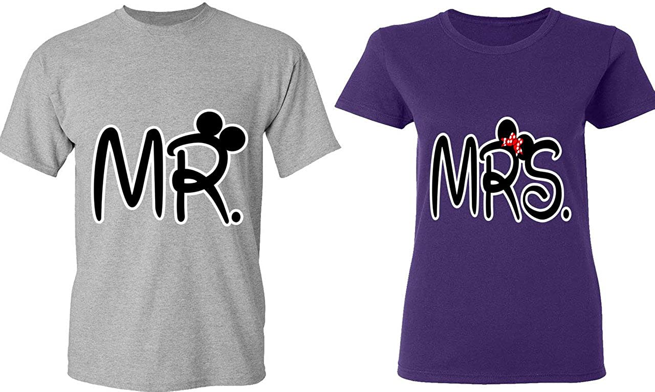 Amazon.com: Mr. & Mrs - Matching Couple Shirts - His and Her T ...