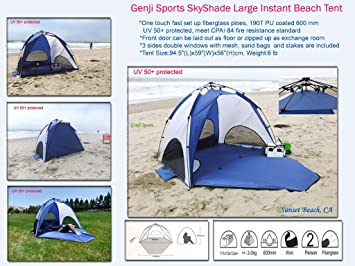 Genji Sports SkyShade Large Instant Beach SunShelter Tent  sc 1 st  Amazon.com & Amazon.com: Genji Sports SkyShade Large Instant Beach SunShelter ...