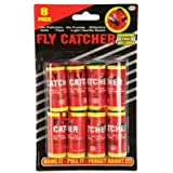 Pack of 8 Sticky Fly Catchers / Fly Paper Set for Indoor or Greenhouse use