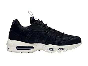 1c589071c3 Image Unavailable. Image not available for. Color: NIKE Men's Air Max 95  Black/Sail/Gym Red Synthetic Running Shoes ...