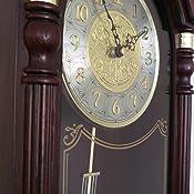 Amazon Com Seiko Dark Brown Solid Oak Case Wall Clock