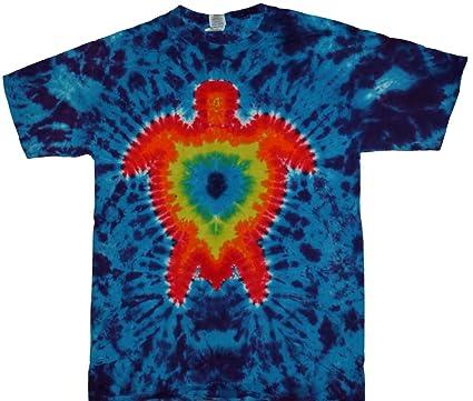 71a1a0701930cb Amazon.com  Tie Dyed Shop Rainbow Sea Turtle Tie Dye T Shirt  Small ...