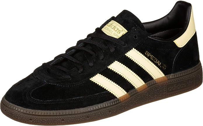 adidas Spezial Sneakers Herren Schwarz mit Hellgelben Streifen