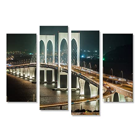 Cuadro Moderno El Famoso puente Che collega Macao y Taipa ...