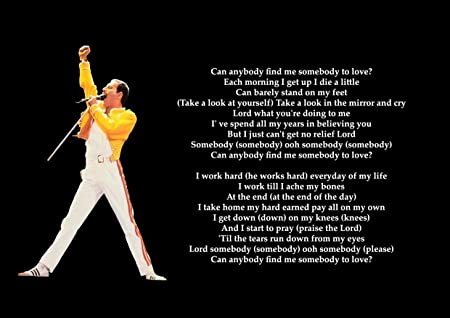 Queen Somebody To Love Lyrics Great Rock Metal Album Cover