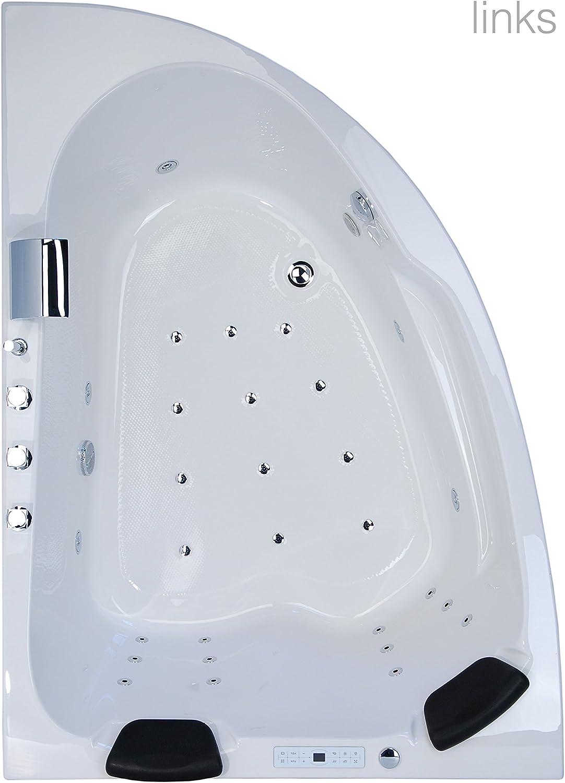 Juist Premium 2 Personen Whirlwanne Indoor Made in Germany Eckwanne NEU inkl Armatur rechts Variante Whirlpool Eckbadewanne