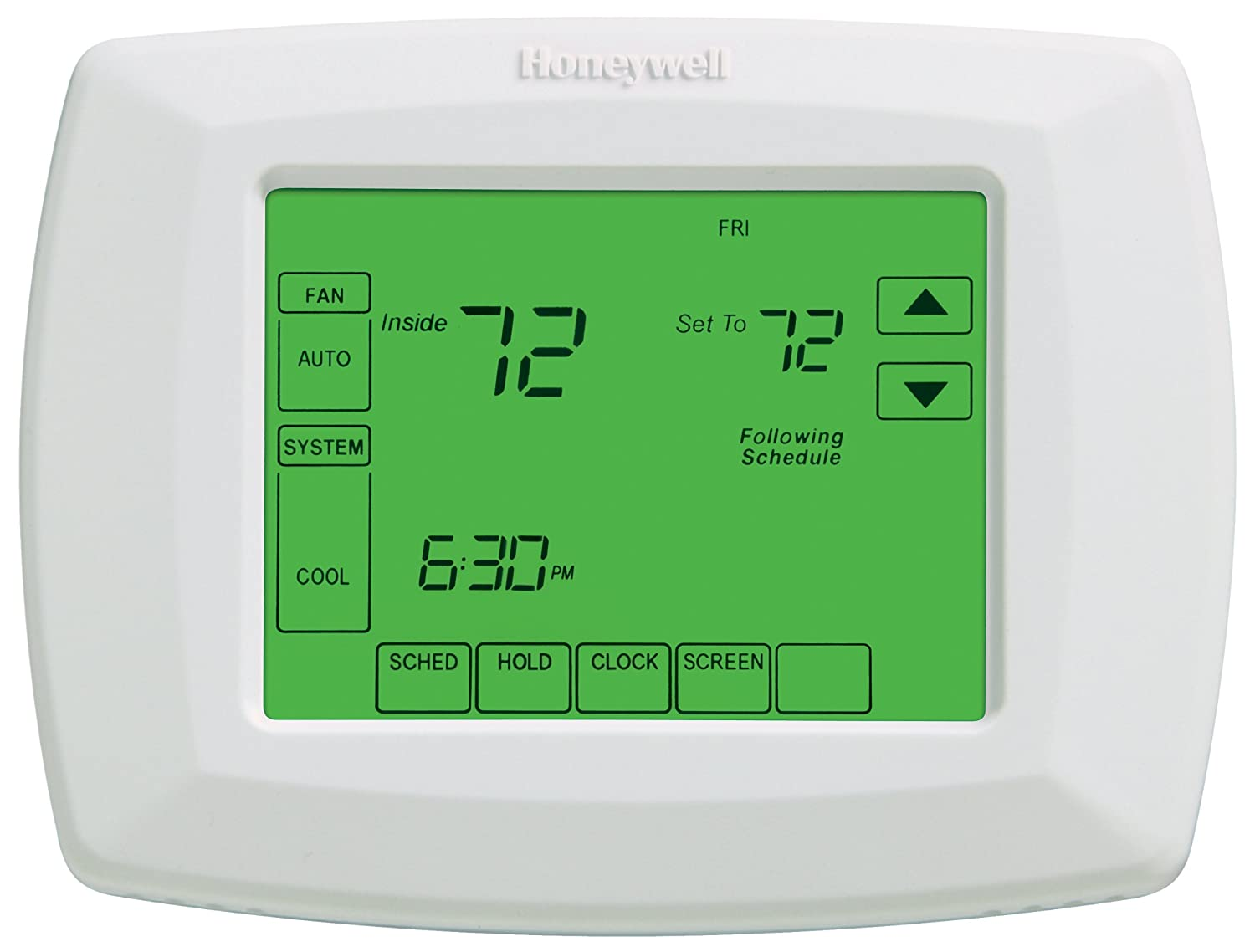 "Honeywell RTH8500D 7-Day Touchscreen Programmable Thermostat, ""C"" Wire  Required - Programmable Household Thermostats - Amazon.com"