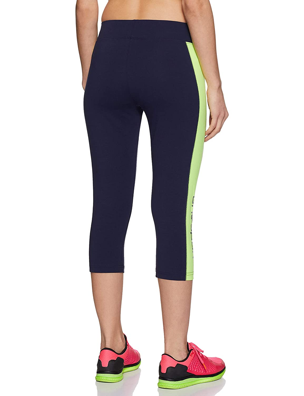 2adc1d6c111 ONESPORT Navy Blue   Green Cotton Spandex Jersey Solid Sports Capri for  Women(ONSP19NG)  Amazon.in  Clothing   Accessories