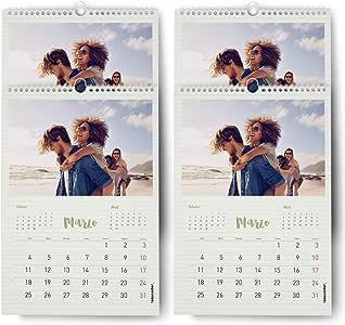 FOTOCENTER Calendarios Personalizados de Pared Espiral 30 x 42 cm de 14 páginas - Imprime tu Pack de 4 calendarios idénticos.: Amazon.es: Hogar