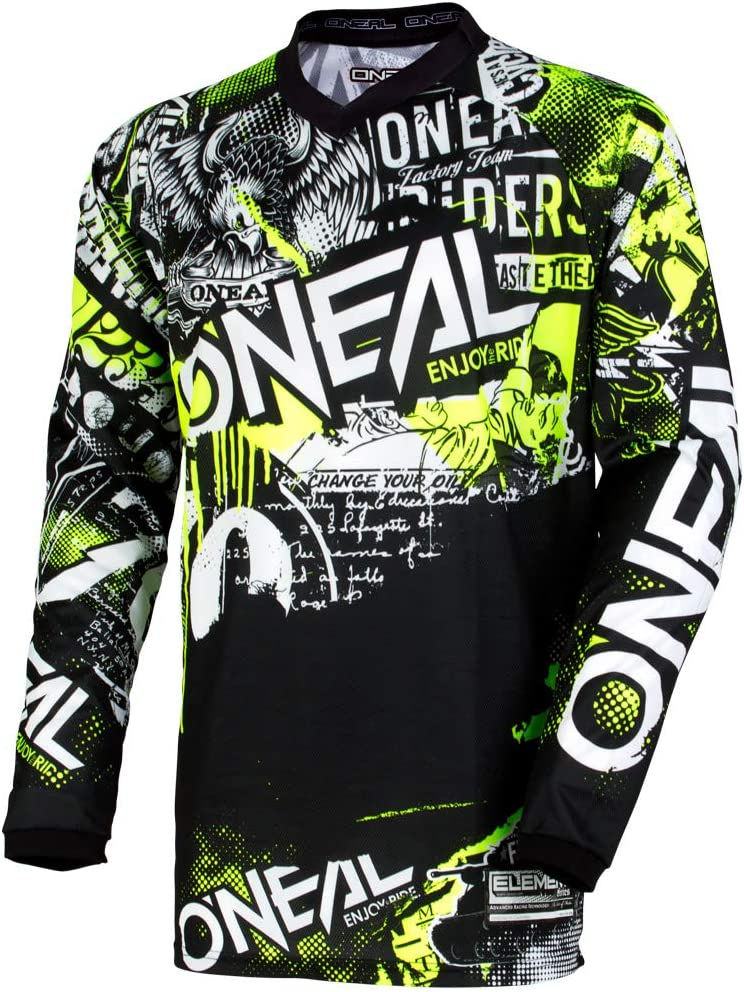 S Element Youth Jersey Attack Black//neon Yellow