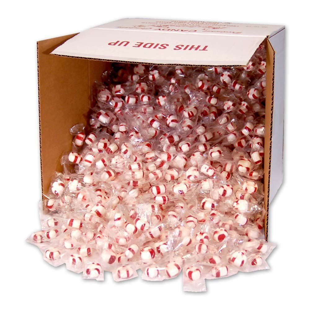 Soft Peppermint Puffs, 1000 individually wrapped pieces (clear wrap bulk box) by Red Bird