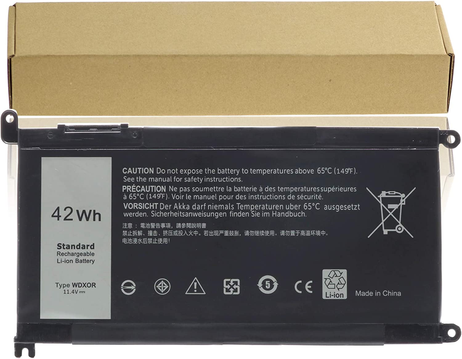 WDX0R Replacement Laptop Battery for Dell Inspiron 13 5368 5378 7368 7378 ; Inspiron 15 5565 5567 5568 5578 7560 7570 7579 7569 P58F; Inspiron 17 5765 5767