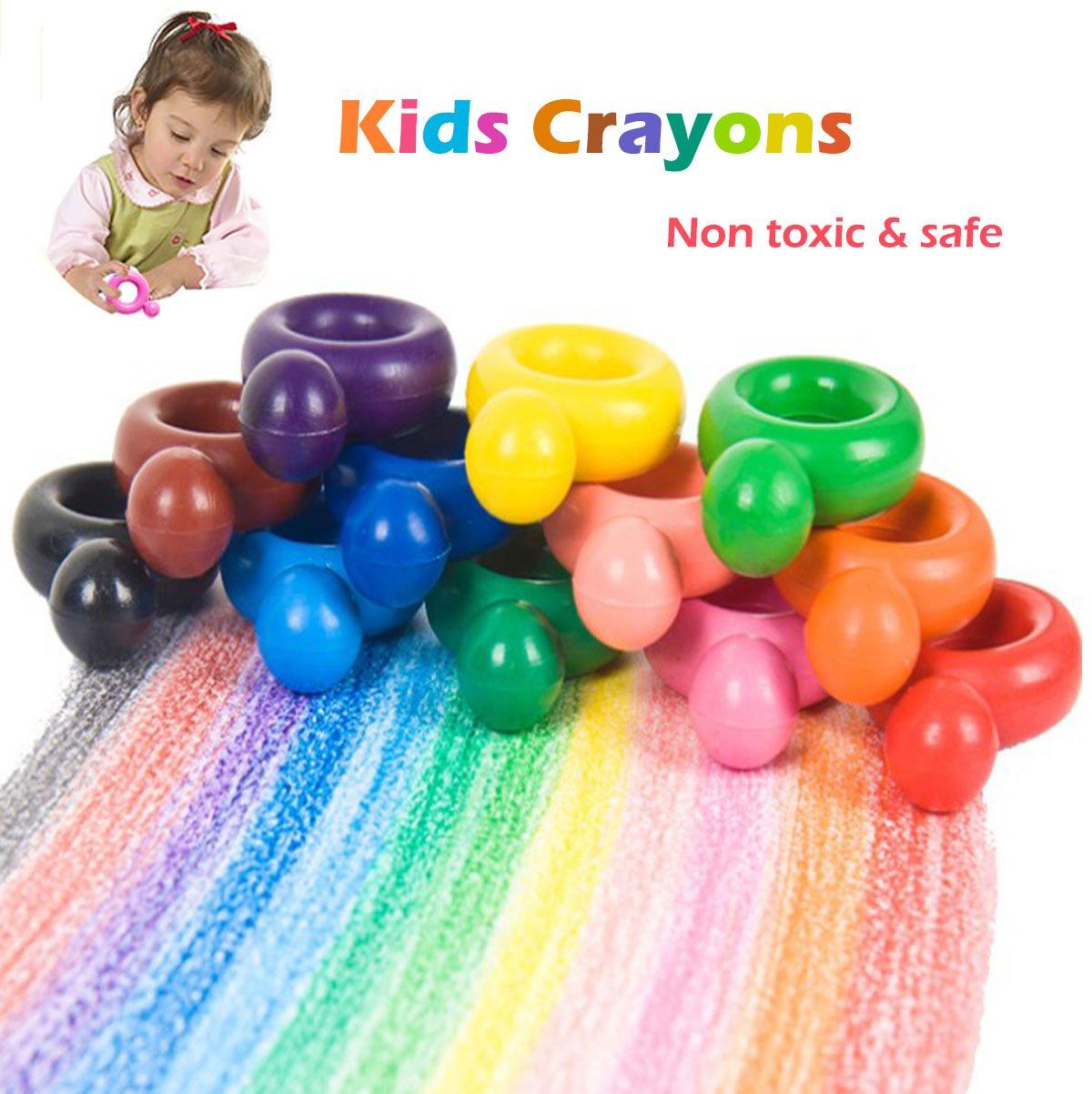 MUSKY Crayones de Cera para Niños, Lápices de 12 Colores de Pintura ...