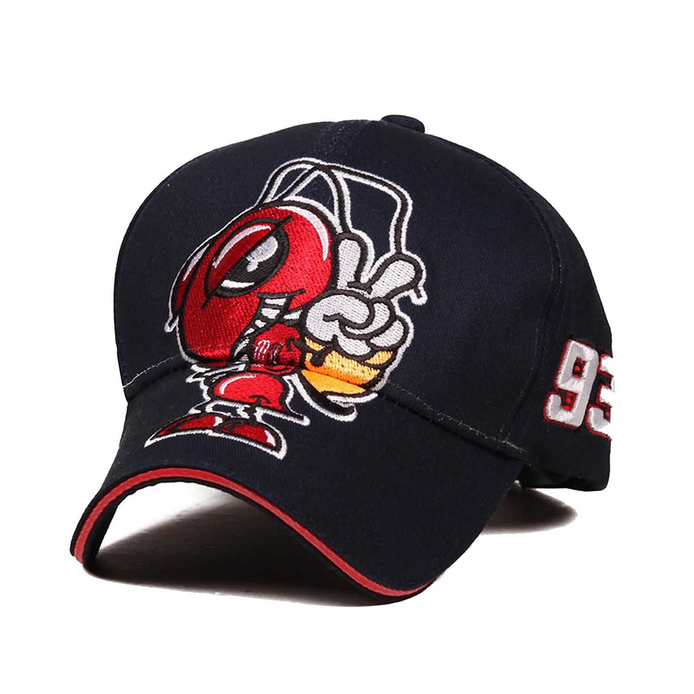 Amazon.com: Big Ant Embroidery Moto GP Marc Marquez Racing Baseball Cap Hat Men Women Sports Snapback Gorras para Hombre: Clothing
