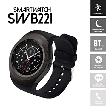 Smartwatch SWB221 (Bluetooth, Android/iOS) con Pantalla ...