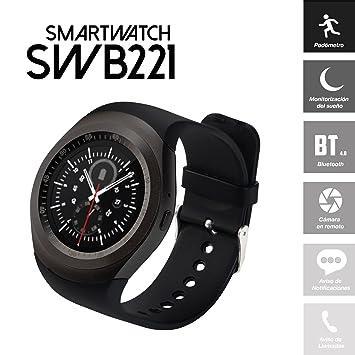 PRIXTON SWB221 - Smartwatch con Pantalla Redonda y Bluetooth Compatible Android/iOS: Amazon.es: Electrónica