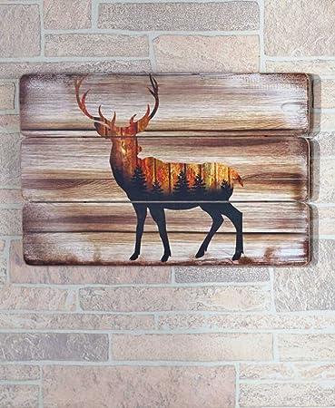 Winter Woodland Home Decor , Deer Silhouette Wall Plaque