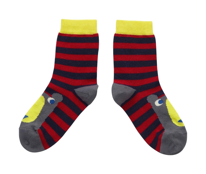 Piccalilly in cotone organico Bambino, colore: rosso, Socks & colore: grigio