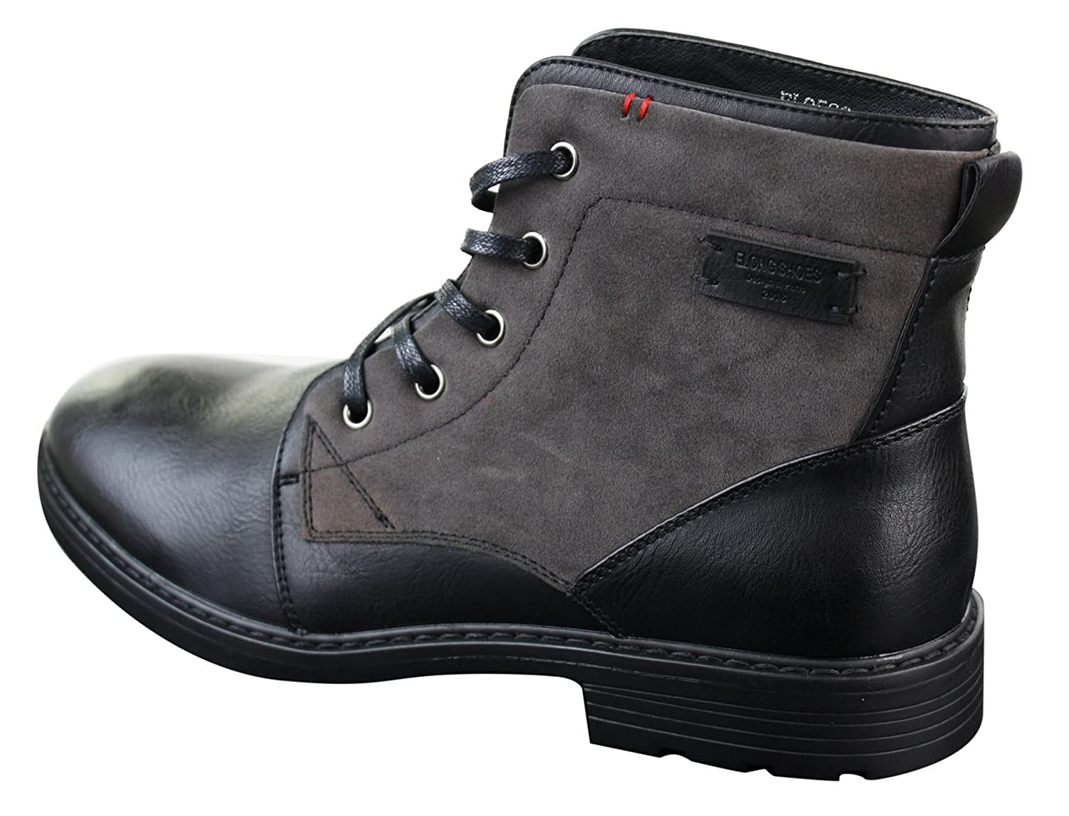 Mens PU Leather & Suede Lace Ankle Combat Cowboy Military Army Biker Boots  Shoes: Amazon.co.uk: Shoes & Bags