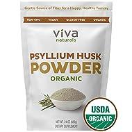 Psyllium Husk Powder; Psyllium Husk Fiber Powder for Baking Keto Bread, Easy Mixing Fiber Supplement for Promoting Regularity, Finely Ground & Non-GMO, 24 oz.