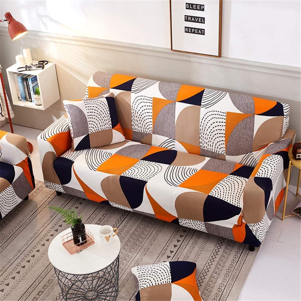 Funda Sofá de 3 plazas Universal Estiramiento, Morbuy Cubierta de Sofá Cubre Sofá Funda Furniture Protector Antideslizante Elastic Soft Sofa Couch Cover (1 plazas,Rompecabezas Naranja): Amazon.es: Hogar