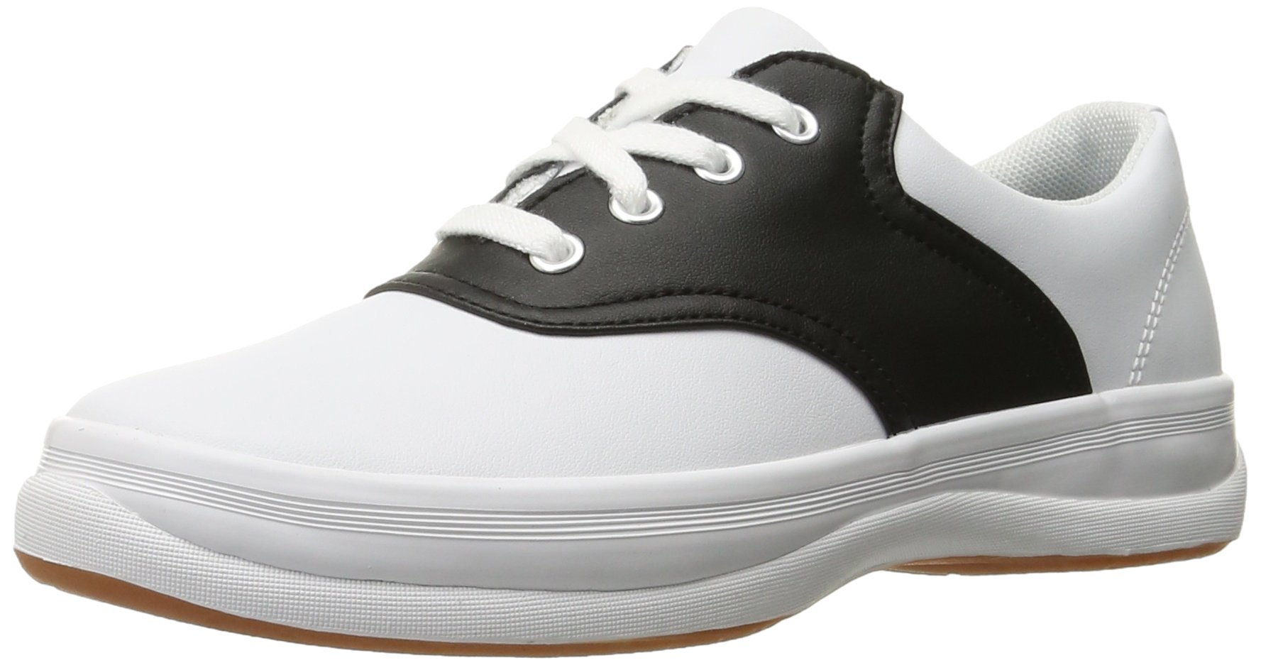Keds School Days II Uniform Sneaker (Little Kid/Big Kid), White/Black, 4 M US Big Kid
