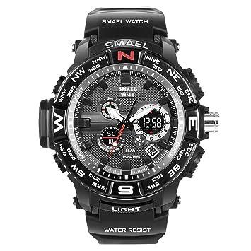 Blisfille Reloj Hombre Varato Reloj Digital Elegante Reloj para Deporte Reloj Hombre Esfera Blanca Reloj Hombre Deportivo Inteligente: Amazon.es: Deportes y ...