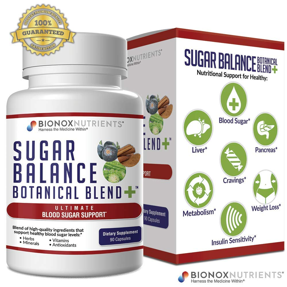 BioNox Nutrients Sugar Balance Supplement - Blood Glucose Support - Diabetes and Pre-Diabetes Support - Insulin Resistance Support - Circulation and Diabetic Health Support - 30 Day Supply by BioNox Nutrients