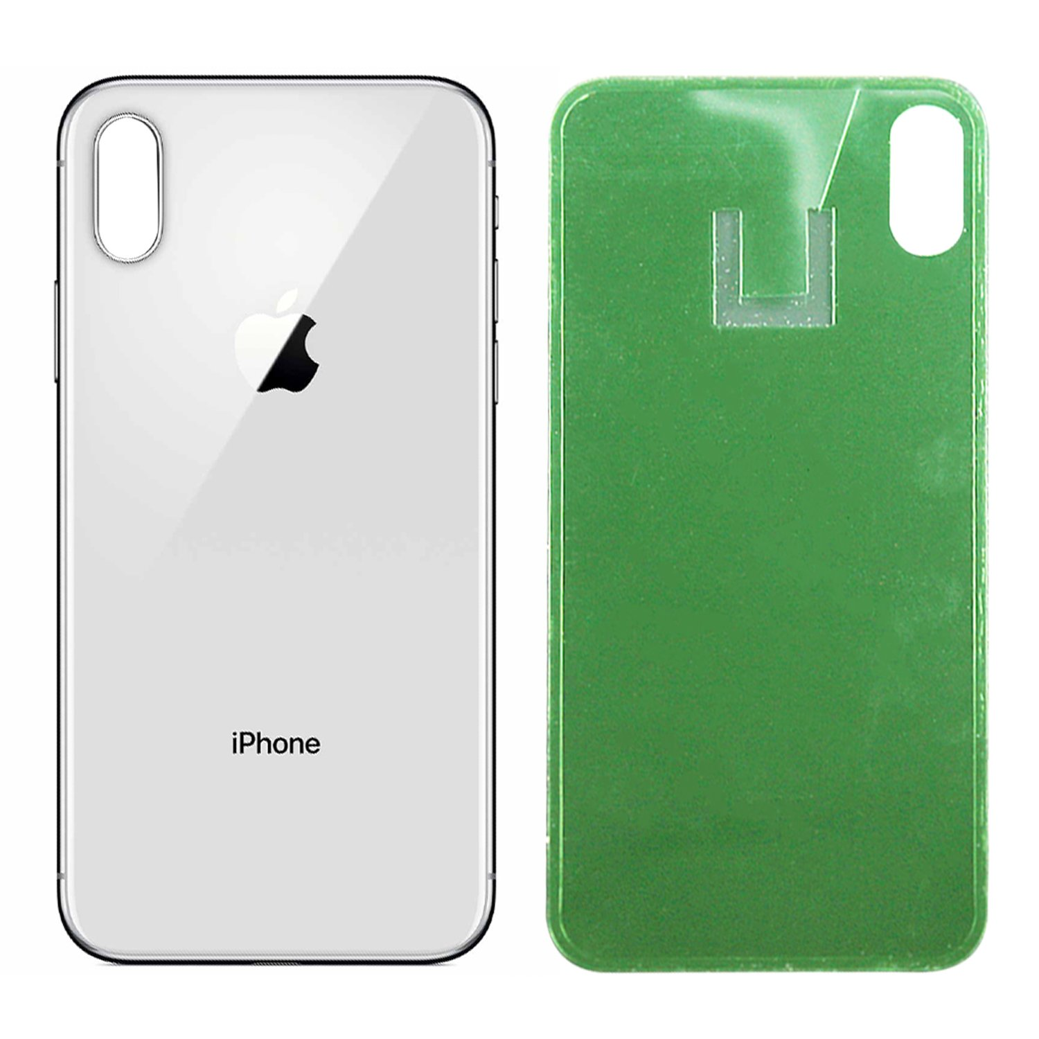 CELL4LESS Replacement for The iPhone X Back Glass Cover OEM Quality Battery Door Replacement w//Adhesive /& Removal Tool Grey