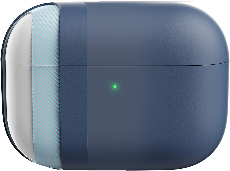KeyBudz Hybrid Shell Hard Cover for Apple AirPods Pro Case (Midnight Blue)