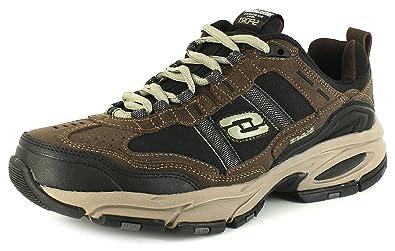8274eea54fb4 Skechers New Mens Gents Brown Vigor Lace Ups Trainers. - Brown Black ...