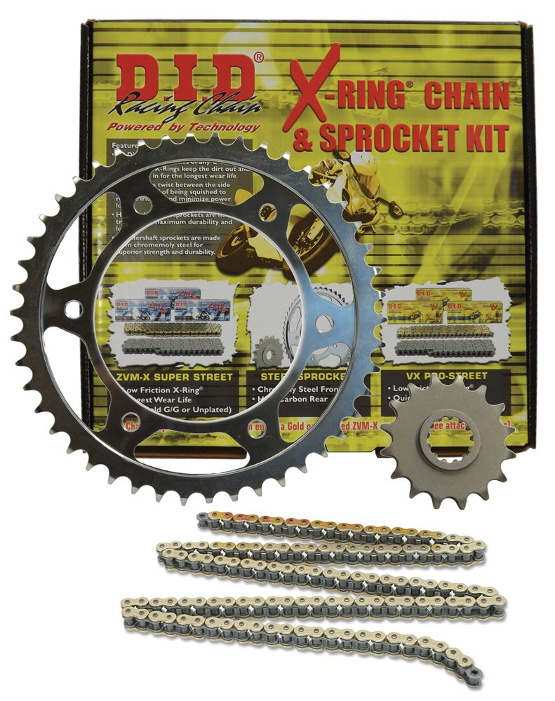 D.I.D (DKH-012G) 530VX Gold/Black Chain and 16 Front/43 Rear Tooth Sprocket Kit by D.I.D.