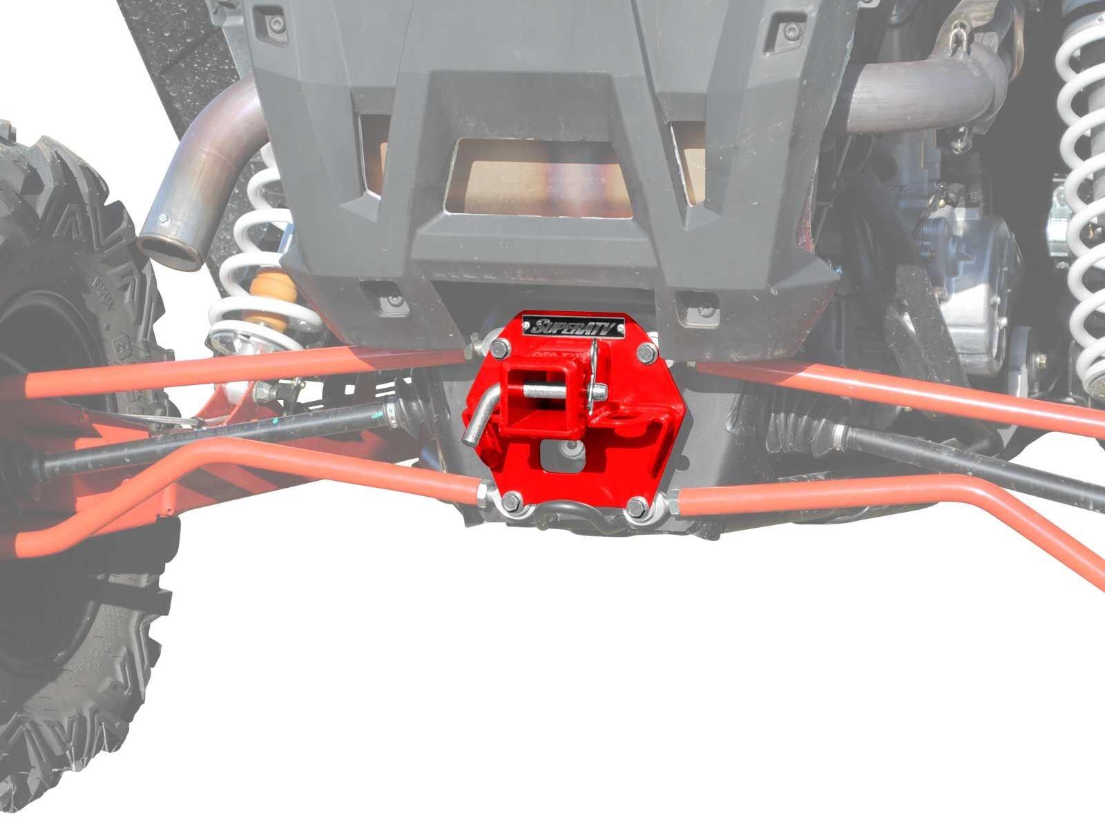 SuperATV 2'' Rear Receiver Hitch for Polaris RZR XP 1000 / XP 4 1000 (2014-2016) - Red by SuperATV.com