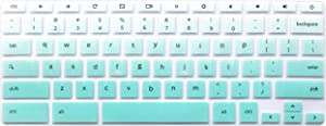 "Silicone Keyboard Cover Skin Compatible for 11.6 inch Samsung Chromebook 3 XE500C13 XE501C13, 11.6"" Samsung Chromebook 2 XE500C12, 12.2 inch Samsung Chromebook Plus V2 2-in-1 XE520QAB Ombre Mint Green"