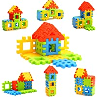 KELWORLD Kids Non Toxic Material Happy Home House Building Block Toys (Multicolour)