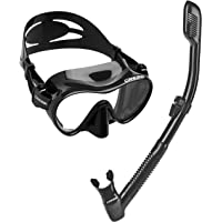 Cressi Italian Boutique Collection - Tempered Glass Lens Frameless Scuba Snorkeling Dive Mask - Splash Guard Dry Snorkel…