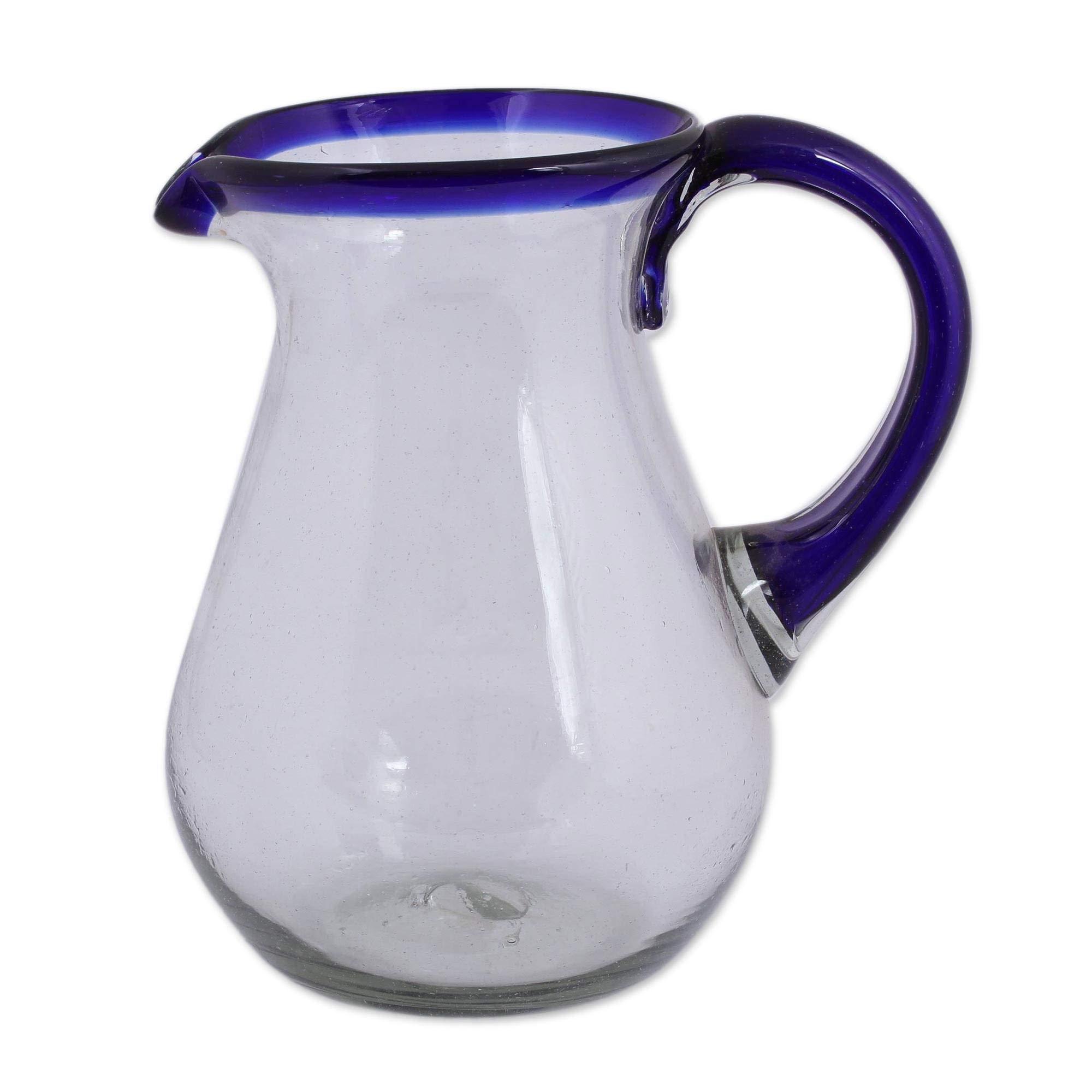 NOVICA 161655'' Blue Grace Glass Pitcher by NOVICA (Image #4)