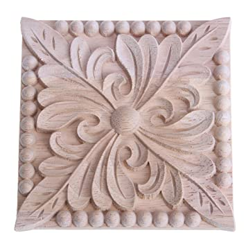 Amazon Com Square Wooden Wood Carving Decal Furniture Wall Corner