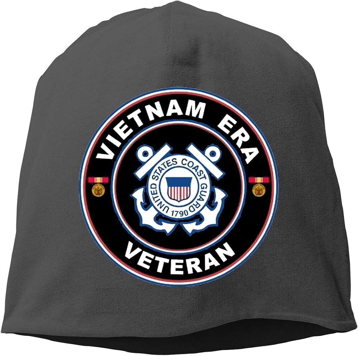 Coast Guard Vietnam Era Veteran Hedging Hat Unisex Skull Hat Knitted Hat Beanie Cap for Autumn//Winter Cap U.S
