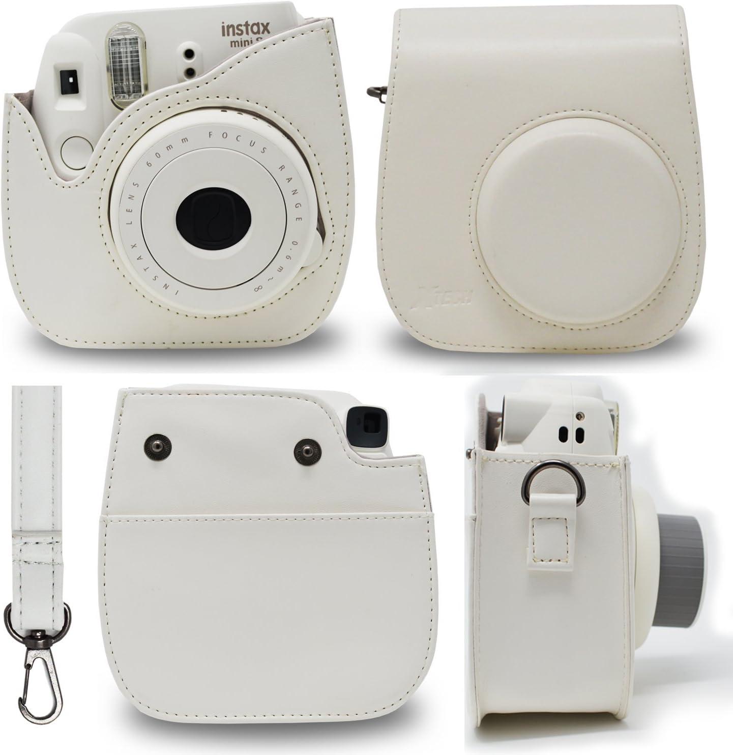 FujiFilm Instax Mini 9 Instant Camera SMOKEY WHITE Instax Album 20 Sheets 20 EMOJI stickers MORE Fun Frames 4 Colored Filters 60 Colorful Stickers Fuji INSTAX Film + Custom Camera Case