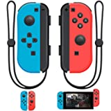 SINGLAND Joy Con Wireless Controller Replacement for Nintendo Switch, Left Right Remote Controllers with Wrist Strap ,Support