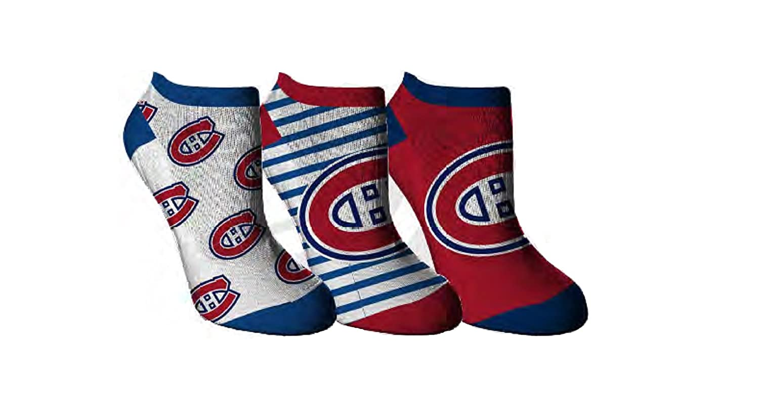 Sporticus Women's NHL Montreal Canadiens No Show Ankle Socks 3-Pack